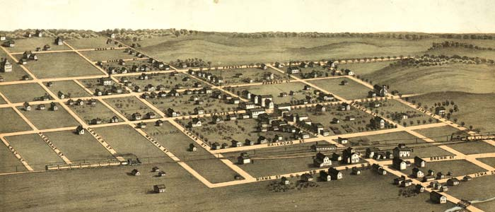 Birdeseye view of Blairstown, Iowa image