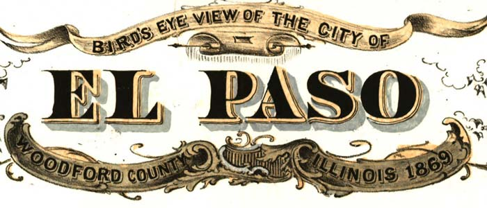 Birdseye view of the city of El Paso, Ill. image