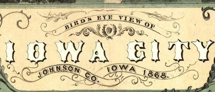 Birdseye view of Iowa City, Iowa image
