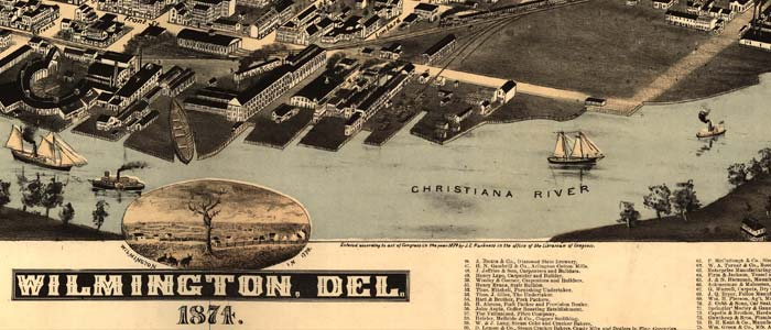 Birdseye Map of Wilmington, Del. image