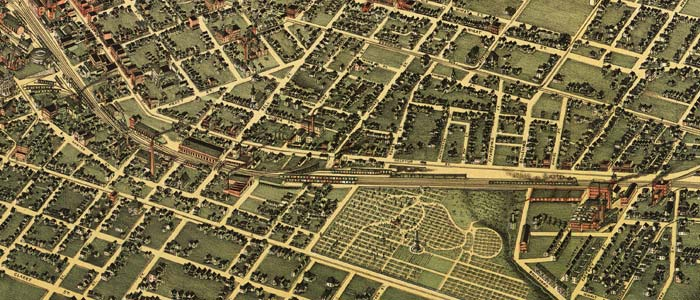 Birdseye view of Atlanta, Georgia – 1892 image