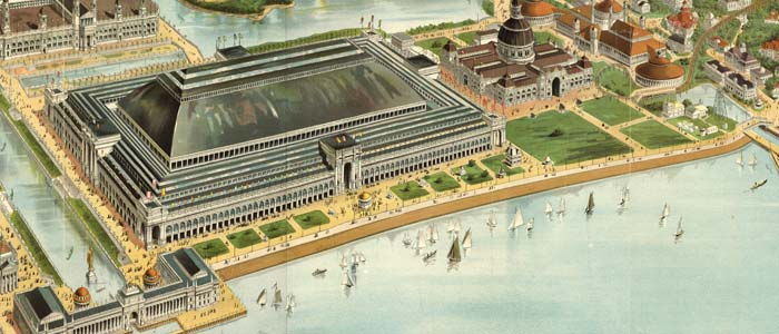 Birdseye view of the Colombian Exposition of Chicago image