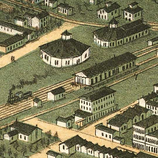 Birdseye view of Bowling Green, Kentucky image detail