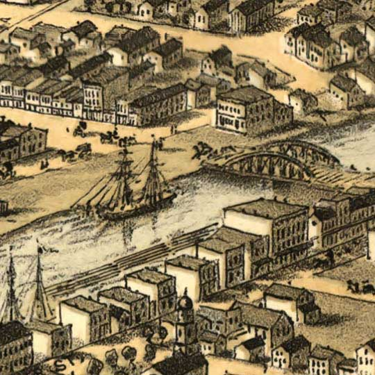 Birdseye view of Port Huron, Sarnia and Gratiot, Michicgan image detail
