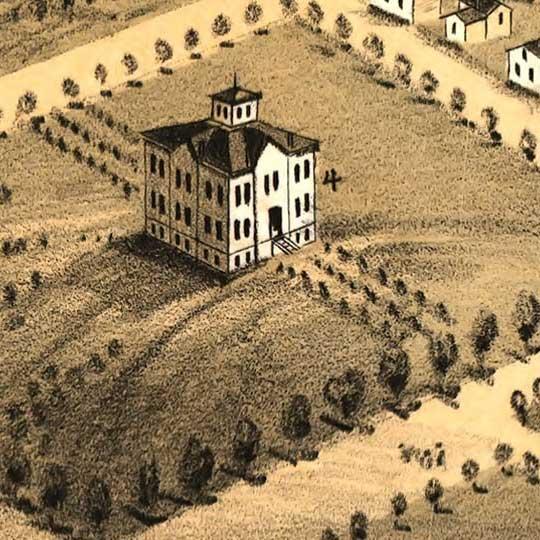 Birdseye view of Lawrence, Kansas image detail