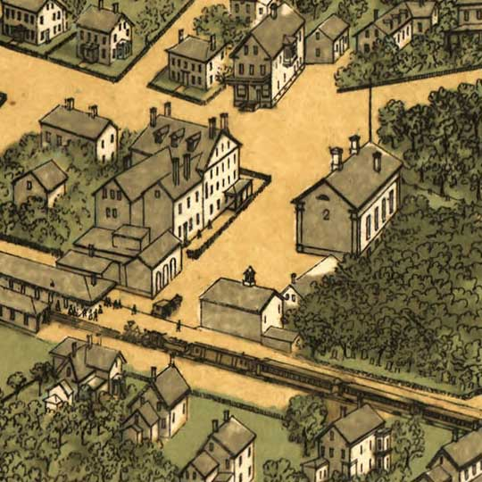 Quincy, Massachusets, Drawn from nature image detail