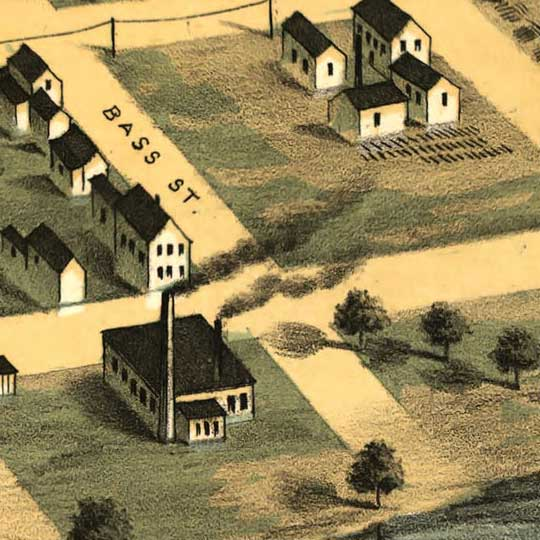 Birdseye view of Hastings, Minnesota image detail