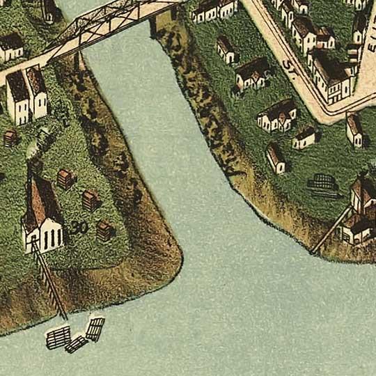 Biredseye view of Paducah, Kentucky image detail
