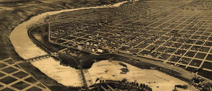 Perspective Map of Great Falls, Montana image