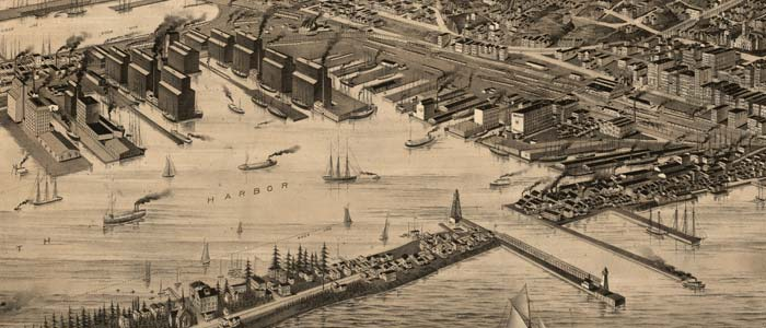 Perspective Map of Duluth, Minnesota image
