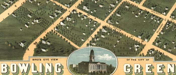 Birdseye view of Bowling Green, Kentucky image