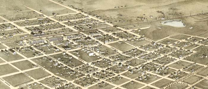 Birdseye View of Sedalia, Missouri image