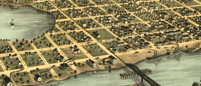 Birdseye view of Hastings, Minnesota image