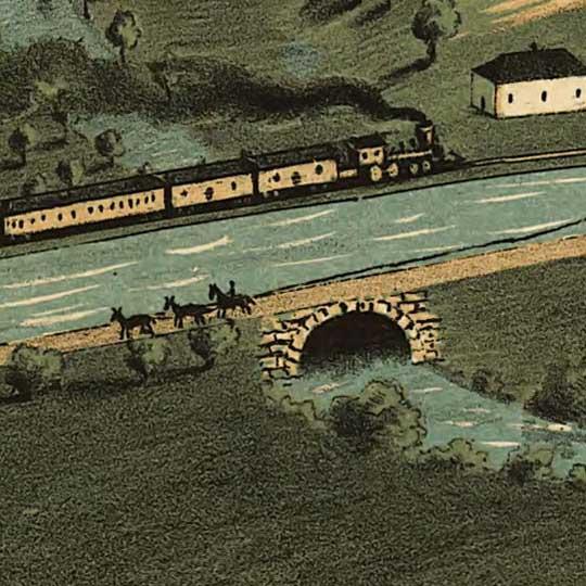 Birdseye view of Circleville, Ohio image detail