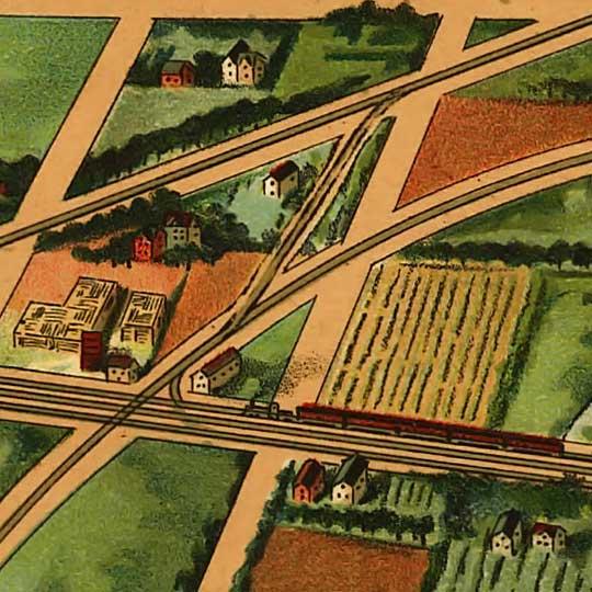 Birdseye view Sandusky, Ohio image detail