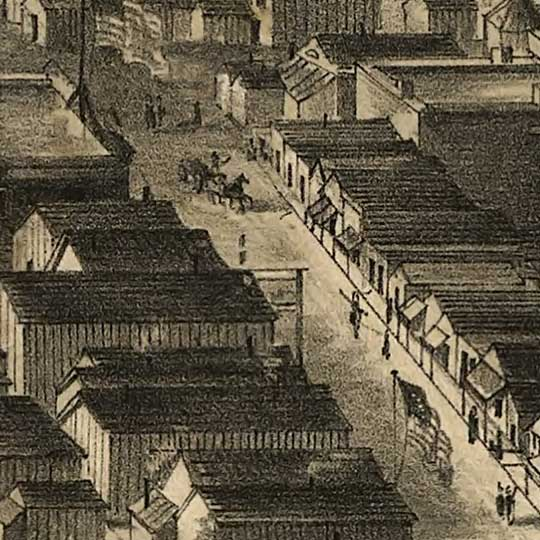 Virginia City, Nevada Territory, Drawn from Nature image detail
