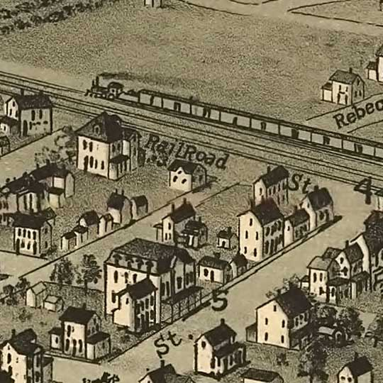 Birdseye view of Roscoe, Pennsylvania image detail