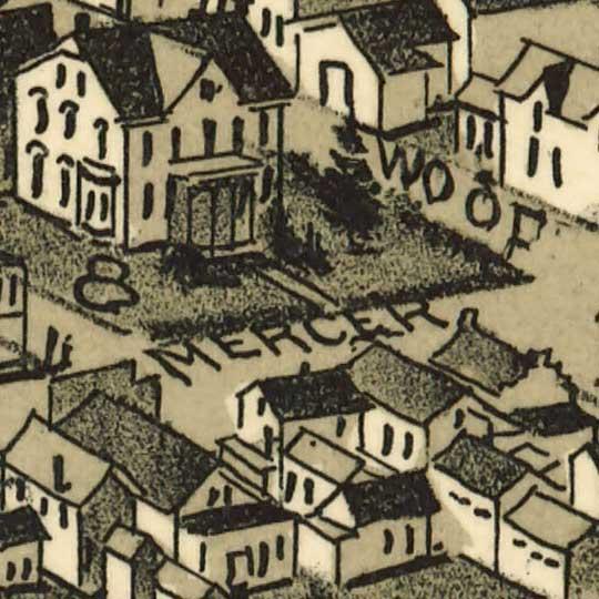 Birdseye view of Harmony, Pennsylvania image detail
