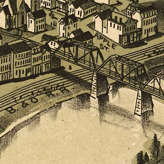 Birdseye view of Connellsville, Pennsylvania image detail