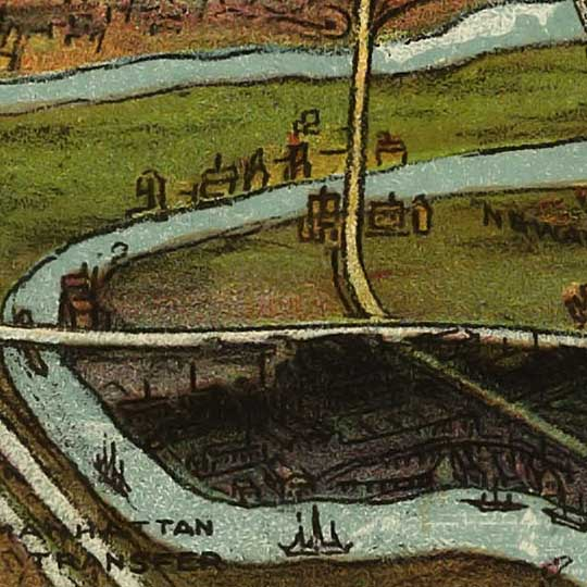 Birdseye view of Newark, New Jersey – Shepherd image detail