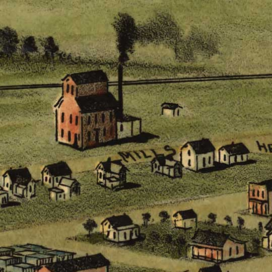 Birdseye view of Ardmore, Indian Territory (Oklahoma) image detail