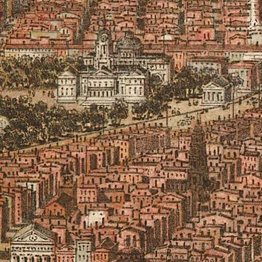 Birdseye View of New York and Environs – Bachmann image detail
