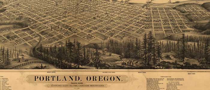 Birdseye view of Portland, Oregon image
