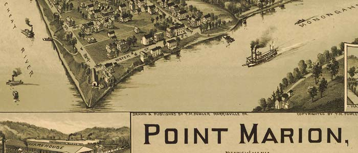 Birdseye view of Point Marion, Pennsylvania image