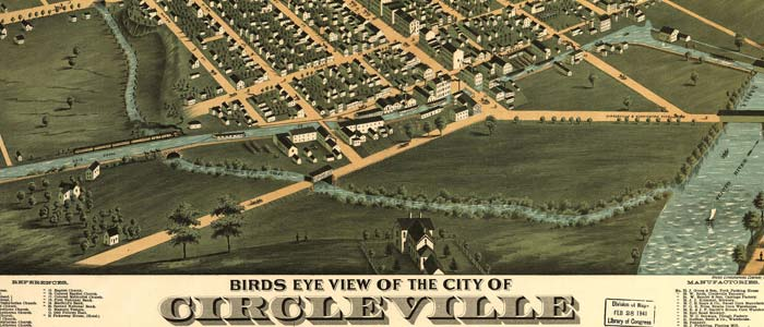 Birdseye view of Circleville, Ohio image
