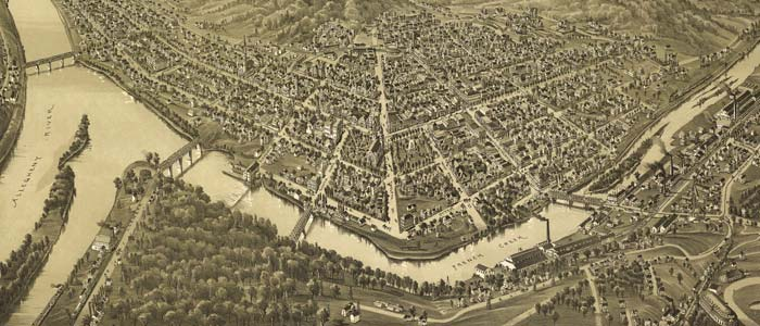 Birdseye view of Franklin, Pennsylvania image