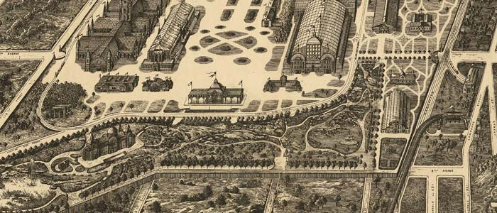 the Proposed site for a World's Fair in 1883 image