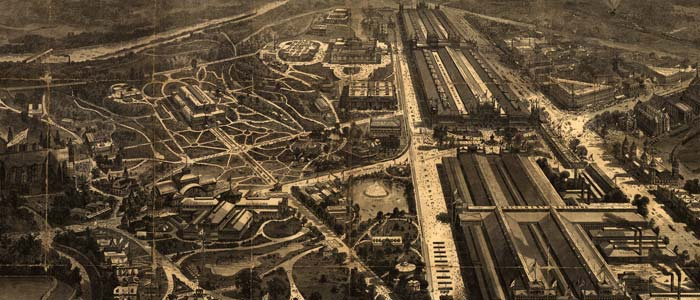Birdseye view of Centennial Exhibition at Philadelphia image