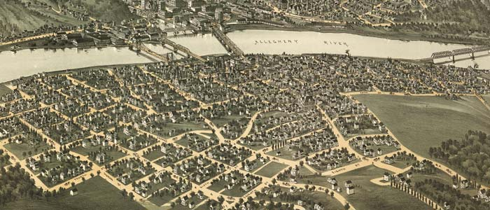 Birdseye view of Oil City, Pennsylvania image