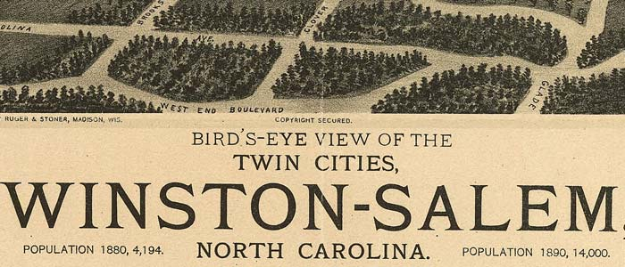 Birdseye View of Winston-Salem, North Carolina image
