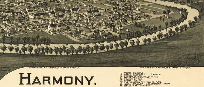 Birdseye view of Harmony, Pennsylvania image