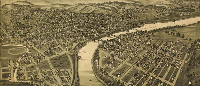 Birdseye view of Connellsville, Pennsylvania image