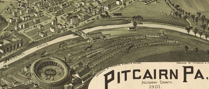 Birdseye view of Pitcairn, Pennsylvania image
