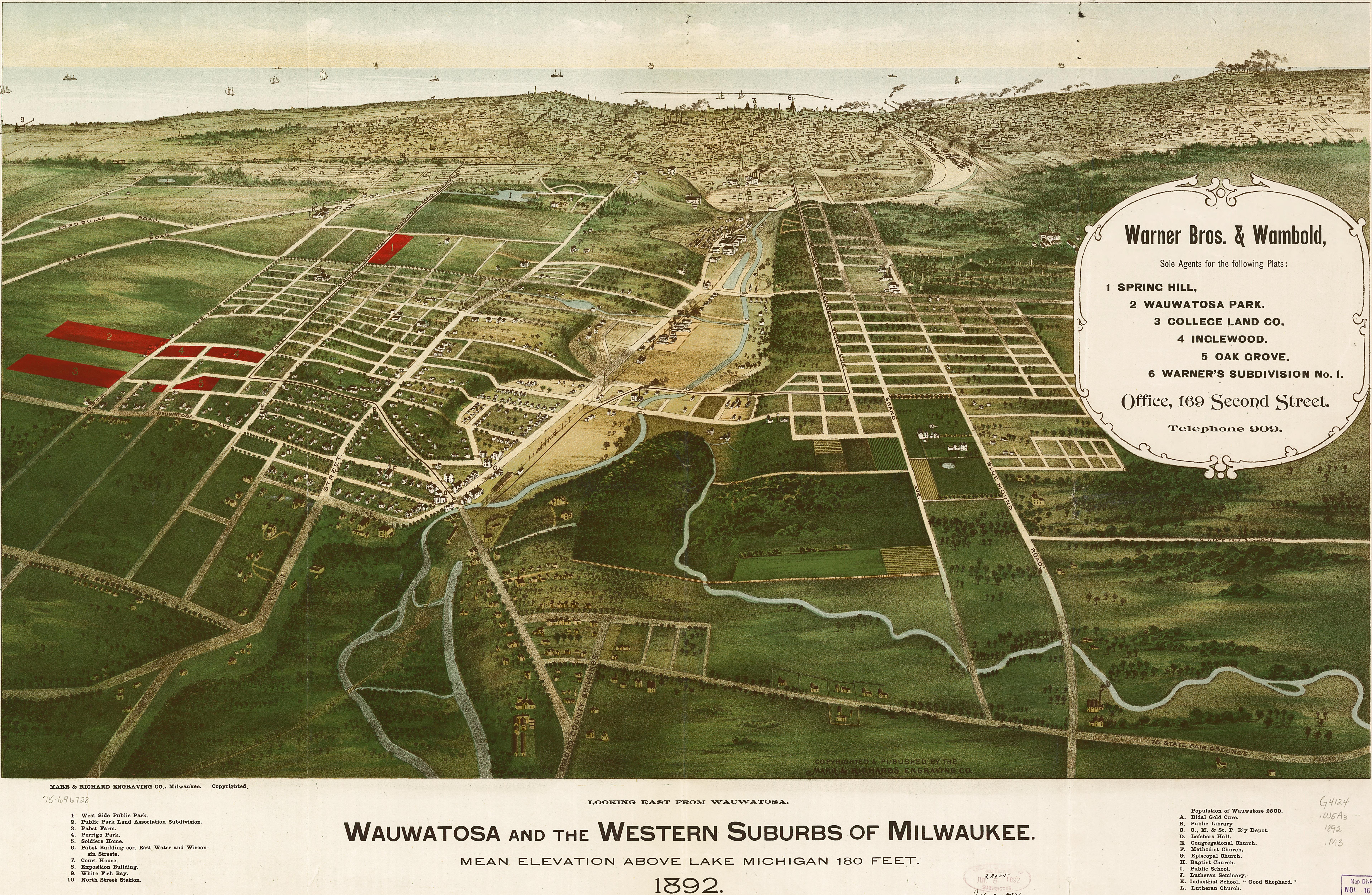 The Suburbs Of Milwaukee Wisconsin - Vintage milwaukee map