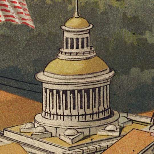 Birdseye view of the Tennessee Exposition image detail