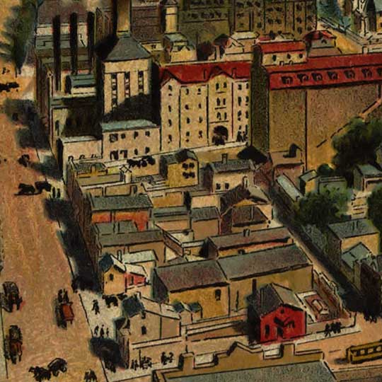 Birdseye view of Milwaukee – 1898 image detail