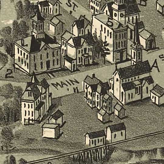 Birdseye view of Buckhannon, West Virginia image detail