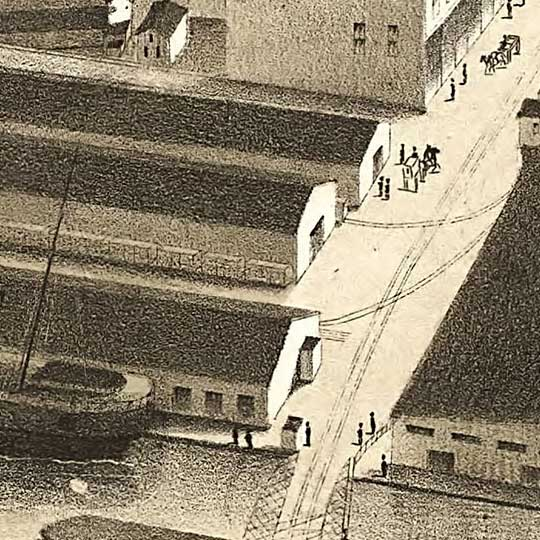 Birdseye view of Milwaukee – 1879 image detail