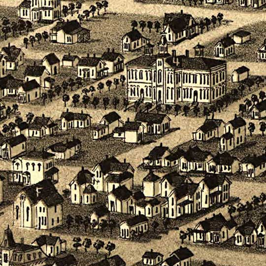 Birdseye view of Cheyenne, Wyoming image detail