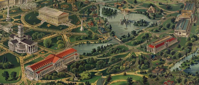 Birdseye view of the Tennessee Exposition image