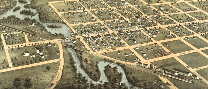 Birdseye view of Reedsburg, Wisconsin image