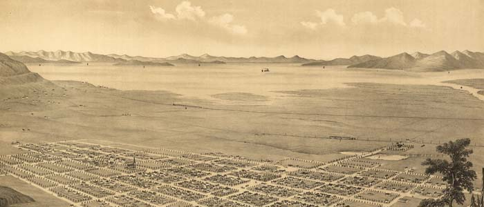 Birdseye view of Brigham City, Utah image