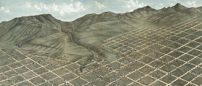 Birdseye view of Salt Lake City, Utah image