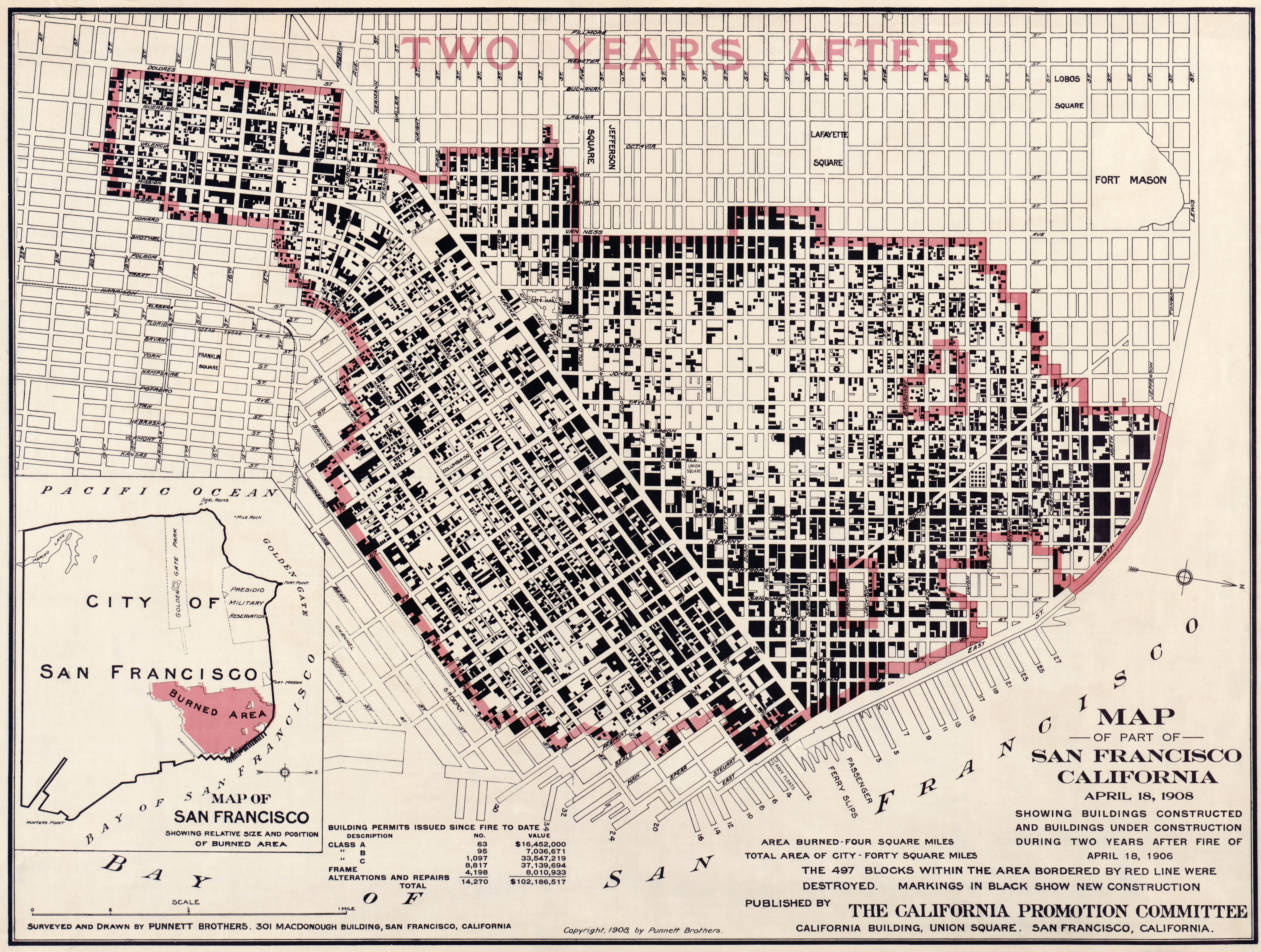 SAN FRANCISCO CALIFORNIA Fire Damage 1908