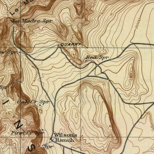 USGS Topographic Map of Las Vegas – 1908 image detail