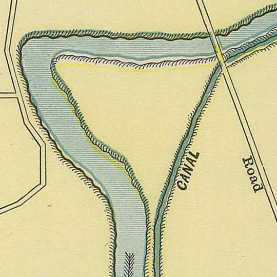 Street map of Indianapolis in 1902 image detail
